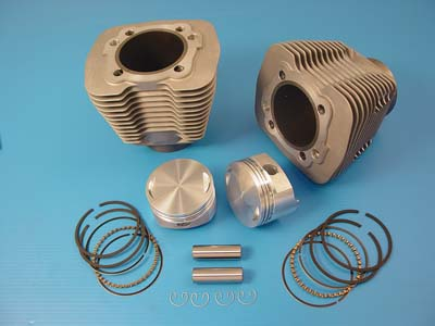 "V-Twin 11-0094 - 88"" Evolution Big Bore Cylinder Kit Silver"