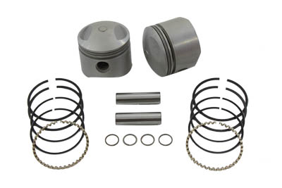 "V-Twin 11-0226 - Replica 80"" Overhead Valve Piston Set Standard"