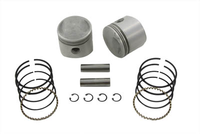 "V-Twin 11-0310 - 74"" Overhead Valve Piston Set .030 Oversize"