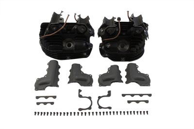 V-Twin 11-0850 - Cast Iron Cylinder Head Set with Valves