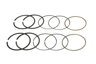 "V-Twin 11-1368 - 74"" Moly Piston Ring Set Standard"