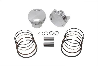 "V-Twin 11-1699 - 93.4"" Big Bore Flat Top Piston Kit Standard"