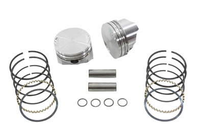 KEITH BLACK PISTON SET, STANDARD VTWIN 11-2210