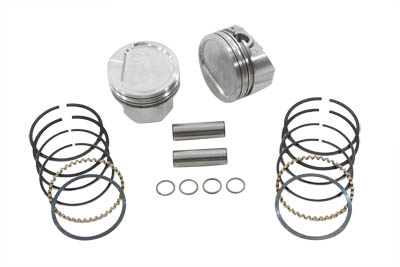 KEITH BLACK DISH PISTON SET, .030 VTWIN 11-2232
