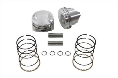 KEITH BLACK 7.2:1 PISTON SET, .020 VTWIN 11-2237