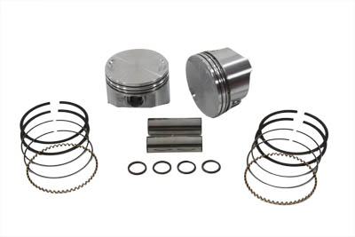 KEITH BLACK 8.8:1 PISTON SET STD, .010 VTWIN 11-2266
