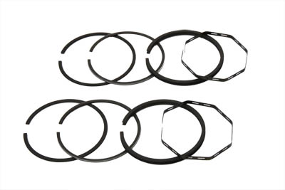 CAST PISTON RING SET, .010 VTWIN 11-2501