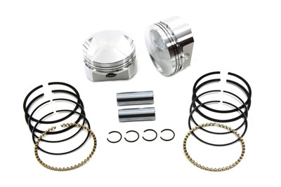 WISECO PISTON KIT .010 OVERSIZE, 10.5:1 VTWIN 11-9955