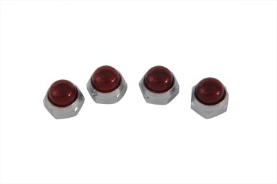 V-Twin 12-0525 - Red Rocker Arm Shaft End Caps