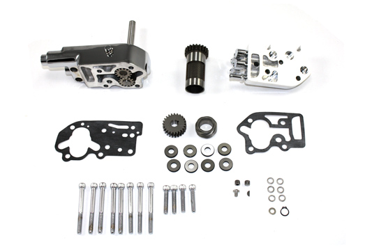SIFTON OIL PUMP/BREATHER KIT, CHROME VTWIN 12-9807
