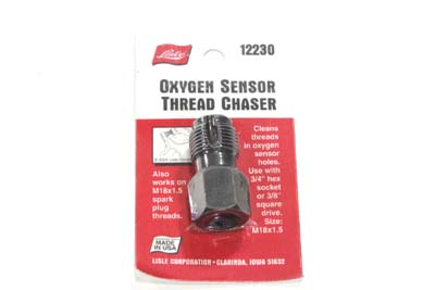 V-Twin 16-1385 - Oxygen Sensor Plug Thread Chaser Tool 18mm