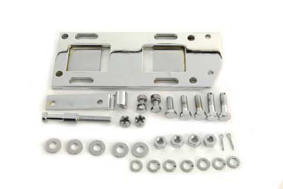 V-Twin 17-0244 - Transmission Mounting Plate Kit Chrome