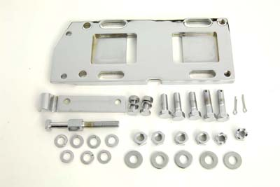 V-Twin 17-0246 - Transmission Mounting Plate Kit Chrome