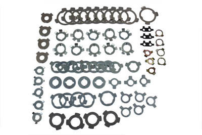 V-Twin 17-0940 - Lock Tab Assortment 70 Pieces Carded