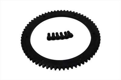 V-Twin 18-8307 - 66 Tooth Clutch Drum Starter Ring Gear Bolt-On