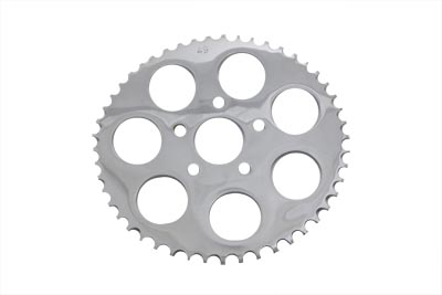 V-Twin 19-0124 - Rear Sprocket Chrome 49 Tooth