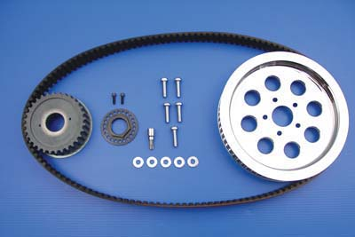 V-Twin 20-0698 - Rear Belt and Pulley Kit Chrome