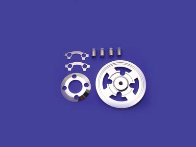 V-Twin 20-2051 - Billet Clutch Pressure Plate Kit Chrome