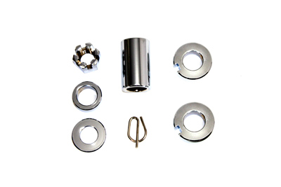 V-Twin 2026-5 - Rear Axle Spacer Kit Chrome
