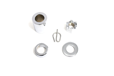 V-Twin 2258-5 - Rear Axle Spacer Smooth Style Chrome