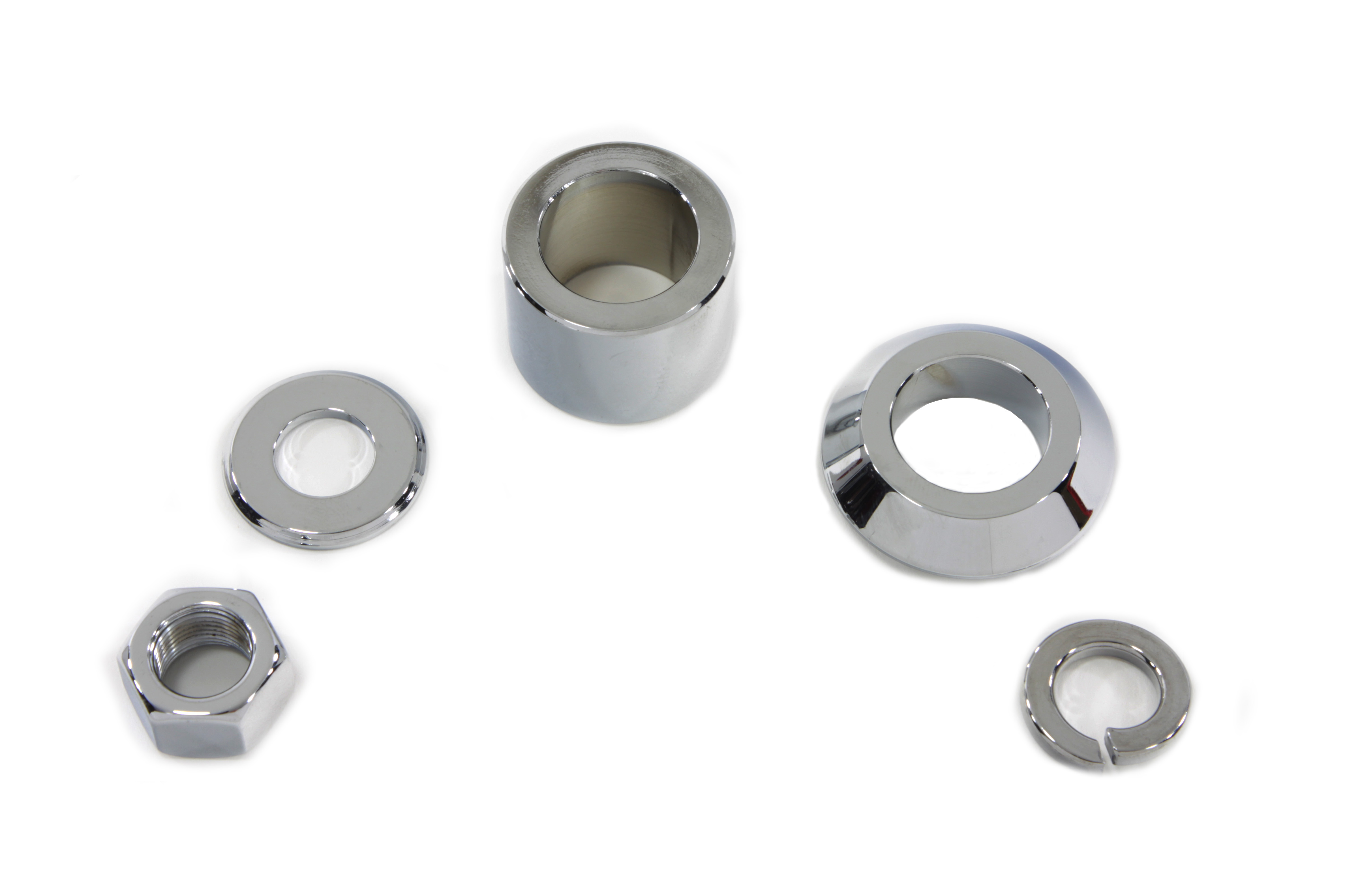 V-Twin 2390-5 - Front Axle Spacer Kit Smooth Style Chrome