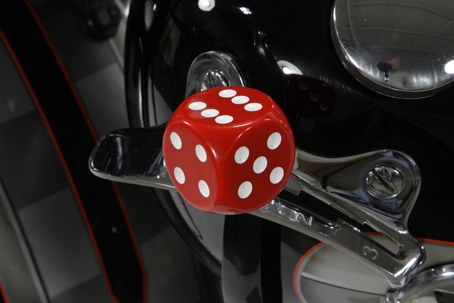 V-Twin 21-0937 - Red Dice Style Shifter Knob