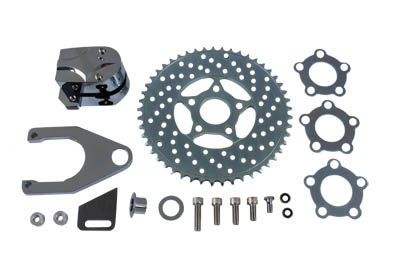 V-Twin 22-0373 - Chrome Rear 2 Piston Caliper and Disc Kit