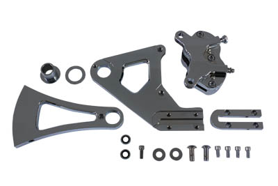 V-Twin 22-0764 - Chrome Rear 4 Piston Caliper and Bracket Kit
