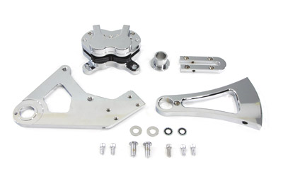 V-Twin 22-0765 - Chrome Rear 4 Piston Caliper and Bracket Kit