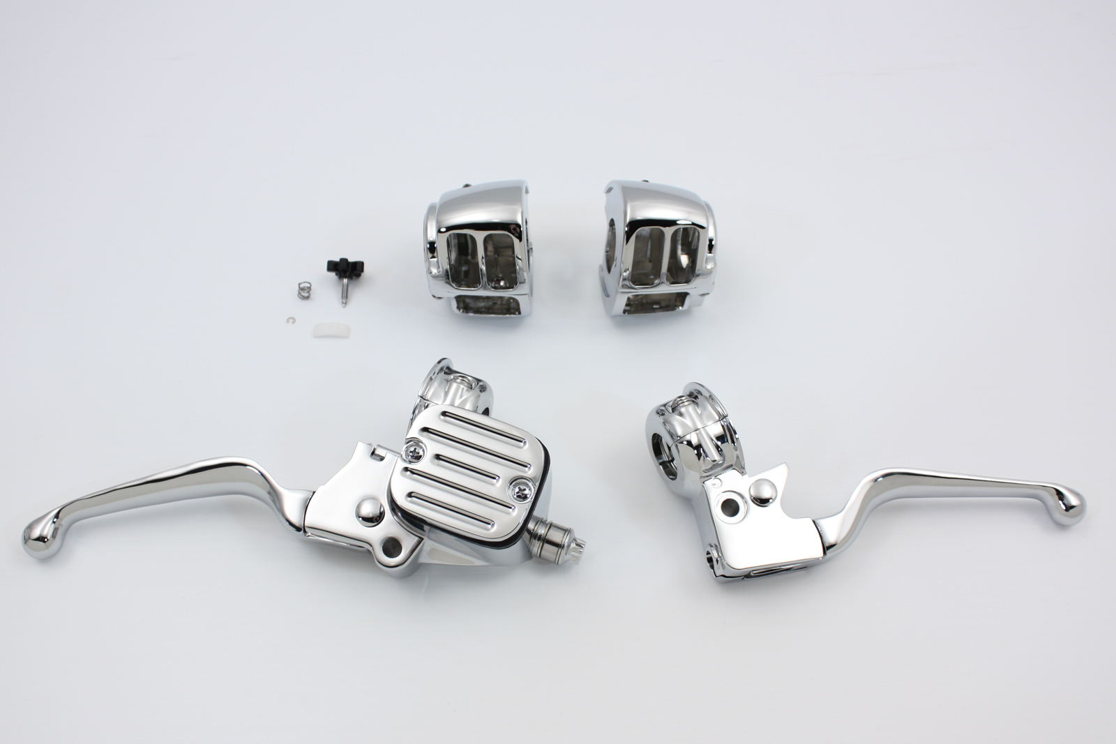 V-Twin 22-0804 - Contour Style Chrome Handlebar Control Kit