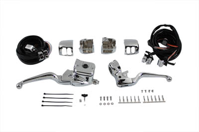 V-Twin 22-0822 - Smooth Contour Handlebar Control Kit Chrome