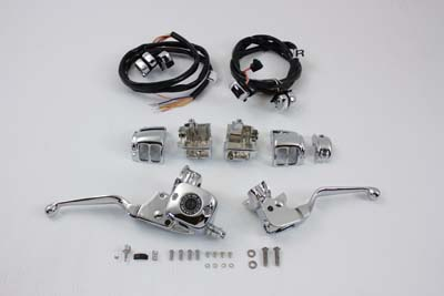 V-Twin 22-0823 - Chrome Handlebar Control Kit