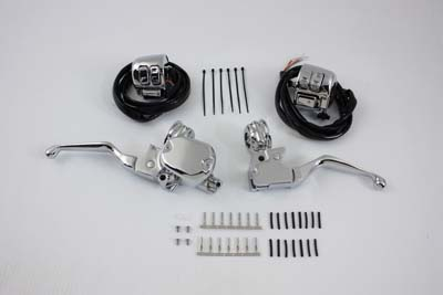 V-Twin 22-0857 - Handlebar Control Kit with Switches Chrome