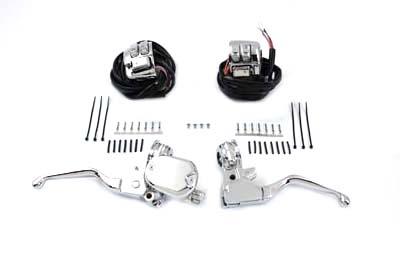 V-Twin 22-0885 - Chrome Handlebar Control Kit