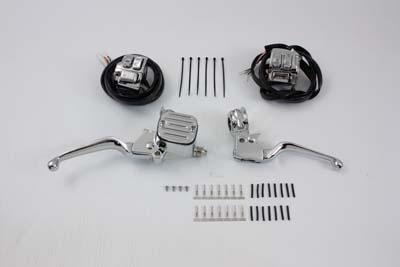 V-Twin 22-0894 - Chrome Handlebar Control Kit