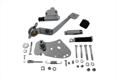 V-Twin 22-1018 - Chrome Replica Forward Brake Control Kit