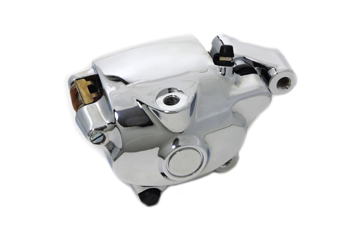 V-Twin 23-0008 - Chrome Front 4 Piston Right Side Caliper