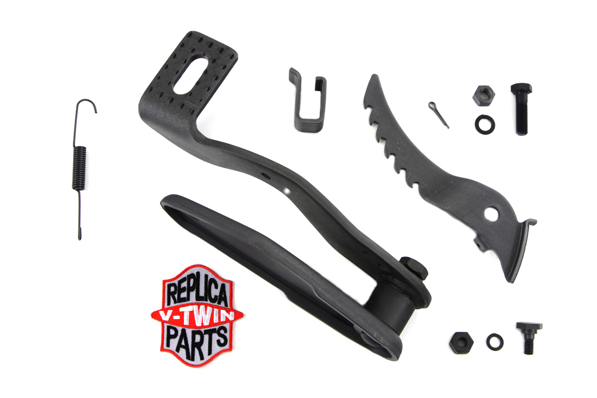 V-Twin 23-0055 - Parkerized Brake Pedal and Plate Kit