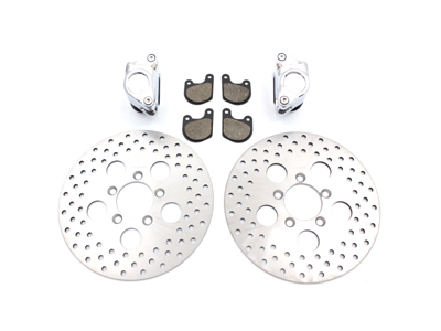 "V-Twin 23-0259 - Front Dual Disc Calipers and 10"" Disc Kit"