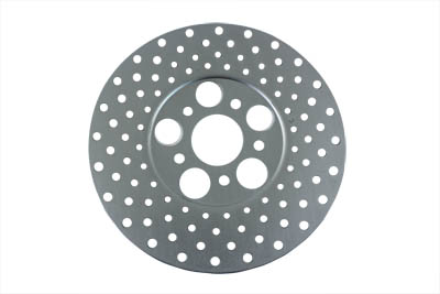 "V-Twin 23-0309 - 10"" Drilled Front or Rear Brake Disc"