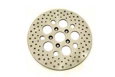 "V-Twin 23-0333 - 11-1/2"" Drilled Rear Brake Disc"