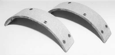 V-Twin 23-0504 - Rear Brake Shoe Linings with Rivets
