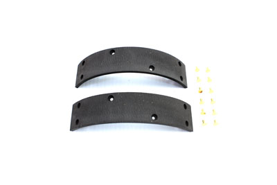 V-Twin 23-0506 - Front Brake Shoe Linings with Rivets