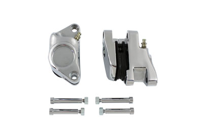V-Twin 23-0550 - Chrome 2-Piston Front Brake Caliper Set
