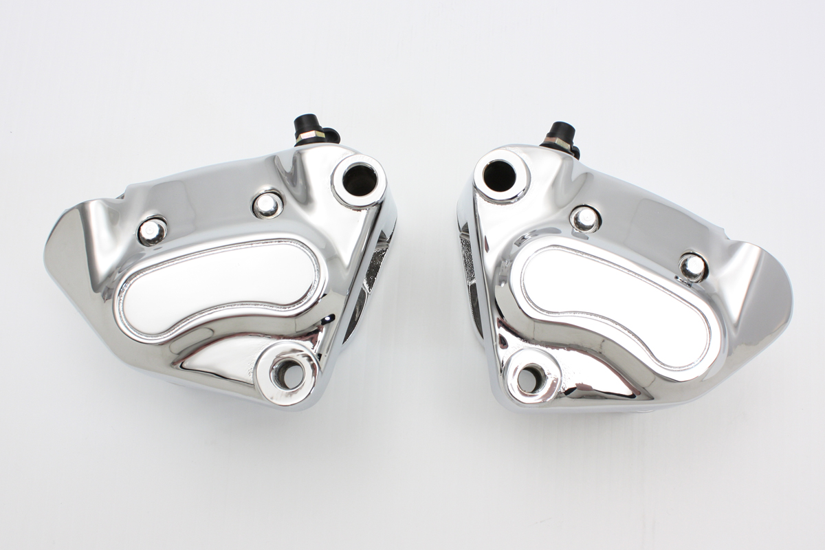 V-Twin 23-0581 - Chrome Front 4 Piston Caliper Set