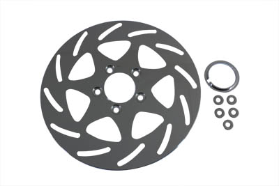 "V-Twin 23-0651 - 11-1/2"" Front or Rear Brake Disc Swirl Style"