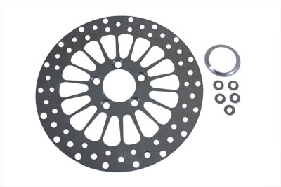 "11-1//2/"" Drilled Rear Brake Disc V-Twin 23-0468"
