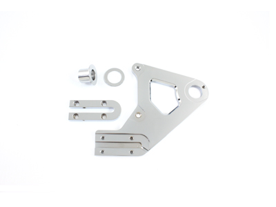 V-Twin 23-0792 - Chrome Left Side Rear Brake Caliper Bracket