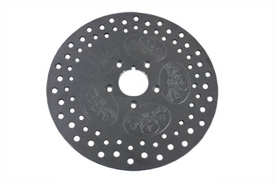 "V-Twin 23-0836 - 11-1/2"" Rear Brake Disc Skull Design Stainless"