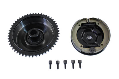 V-Twin 23-0876 - Rear Mechanical Brake Drum Kit Black